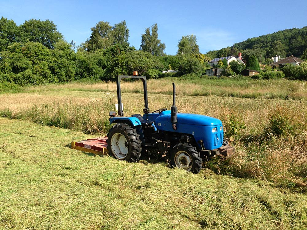 Image of Our compact 4x4 tractor and ATV mounted equipment is ideal for single meadows, smallholdings, equine establishments and smaller farms