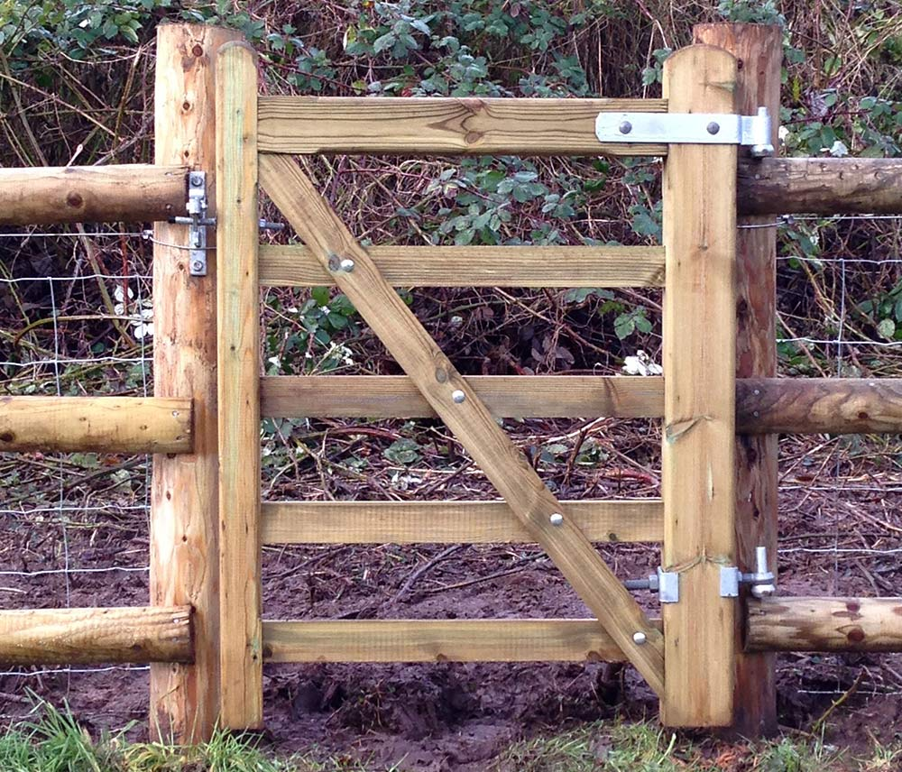 An image of This small field gate was installed for a customer in Llandogo goes here.