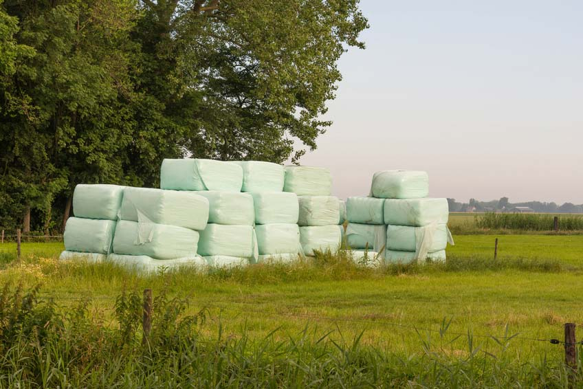 An image of Small bale wrapping, prevent waste on smaller farms goes here.